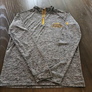 Grey Under Armour LS Top Small Excellent